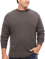 THE FOUNDRY SUPPLY CO. The Foundry Big & Tall Supply Co. Long-Sleeve Waffle-Weave Crew Shirt