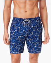 "Michael Kors Men's 10"" Leaf Print Swim Trunks"