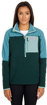 Cotopaxi Dorado 1/2 Zip Fleece Jacket (Submarine/Dark Forest) Women's Clothing