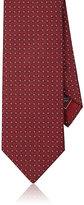 Brioni Men's Diamond Neat Silk Necktie-RED