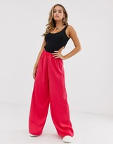 Asos Design DESIGN easy elasticated wide leg pants