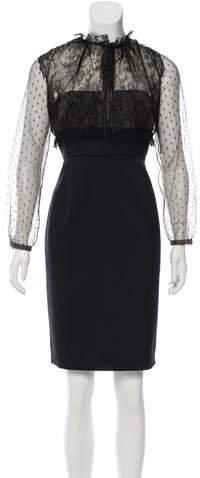 Valentino Lace Sheer Dress