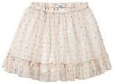 Mayoral Cream and Gold Glitter Spot Tulle Skirt