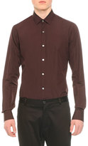 Lanvin Long-Sleeve Woven Sport Shirt, Wine