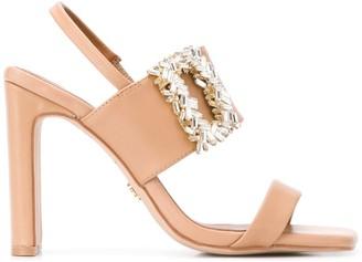 Kurt Geiger Pascal embellished buckle sandals