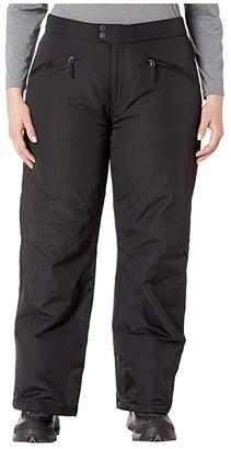 White Sierra Plus Size Toboggan Insulated Pants (Black) Women's Casual Pants