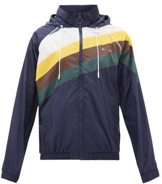 The Upside Sunrise Striped Track Jacket - Navy Multi