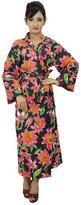 ibaexports Cotton Robe Bridesmaid Gift Crossover Kimono Robe Spa Wrap