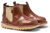 Kickers Tan Leather Kick Chella Chelsea Boots