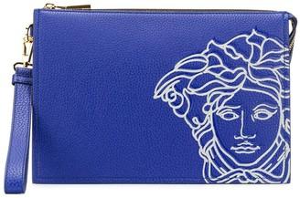 Versace Medusa leather clutch bag