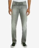 Kenneth Cole Reaction Men's Straight-Fit Gray Wash Jeans