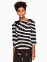 Kate Spade patch embellished stripe top