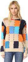 MSGM Colorblock Pullover with Holes