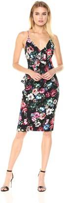 Black Halo Women's Leni Floral Sheath Dress