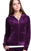 Gesdy Womens Casual Thin Thermal Zip-Up Hoodie