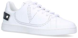 Valentino Garavani Perforated Logo Low-Top Sneakers