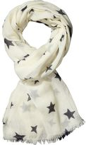 Scotch & Soda Wool Star Print Scarf