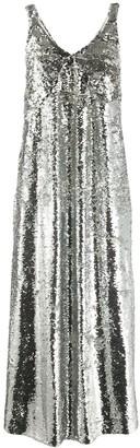 Mulberry V-neck sequin embellished slip dress