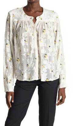 Paul & Joe Sister Andante Embroidered Floral Burnout Long Sleeve Top