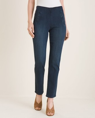 So Slimming Juliet Pull-On Denim Ankle Jeans