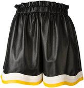Fendi pleated detail shorts - women - Lamb Skin - 40