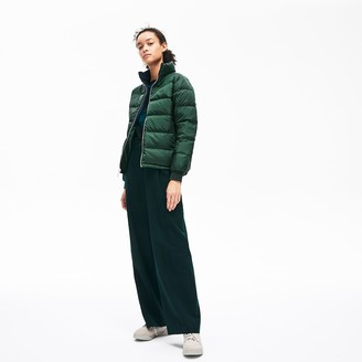 Lacoste Women's Reversible Color-Blocked Water-Resistant Quilted Jacket