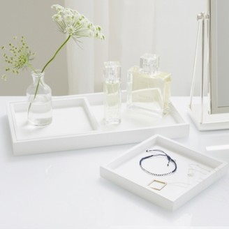 The White Company Lacquer Dressing Table Tray - Set of 3, White, One Size