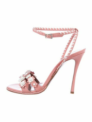 Tabitha Simmons Lynn Leather Sandals Pink