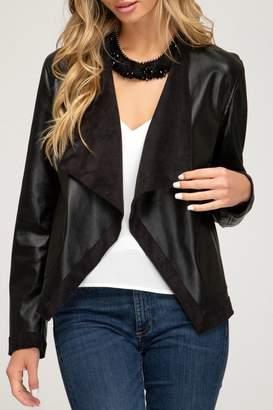 She + Sky Cascade Faux-Leather Jacket