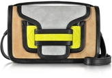 Pierre Hardy Alpha Multicolor Suede & Black Leather Crossbody Clutch
