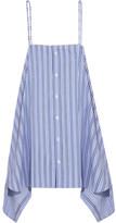 Balenciaga Striped Cotton-poplin Top - Blue