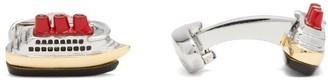 Paul Smith Cruiseship Cufflinks - Silver Gold