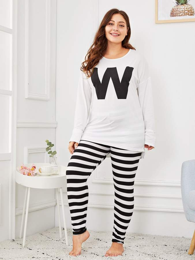 d97d0aaa8c Black And White Stripe Pajamas - ShopStyle