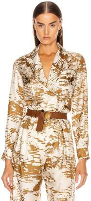Max Mara Eris Shirt in Gold | FWRD