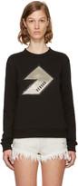Versus Black Lightning Bolt Logo Sweatshirt