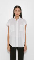Helmut Lang Sleeveless Placket Shirt