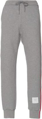 Thom Browne Stripe-Detailed Cotton Sweatpants