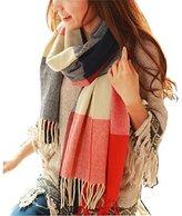 Wander Agio Womens Scarves Warm Long Gird Shawl Wraps Wool Scarf s