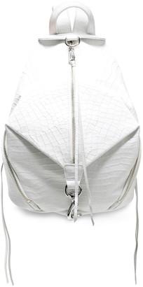Rebecca Minkoff Zip-detailed Croc-effect Leather Backpack