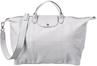 Longchamp Le Pliage Cuir Short Handle Leather Tote