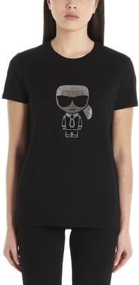Karl Lagerfeld Paris K/Ikonik Rhinestone T-Shirt