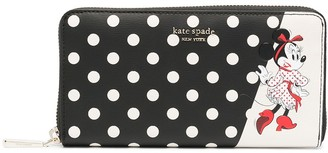 Kate Spade Minnie Mouse polka dot-print wallet