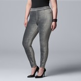 Vera Wang Plus Size Simply Vera Corduroy Leggings