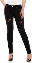 True Religion Flap Pocket Ripped Skinny Jeans