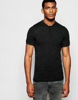 Asos Merino Wool Muscle Fit Short Sleeve Polo