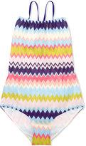 Missoni Kids - striped swimsuit - kids - Nylon/Spandex/Elastane/Viscose - 8 yrs