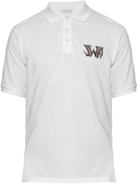 J.W.Anderson Logo-embroidered cotton-piqué polo shirt