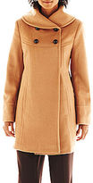 JCPenney Collezione Faux-Angora and Wool-Blend Coat