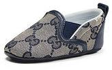 Gucci Guccissima Leather-Trim Slip-On Sneaker, Infant