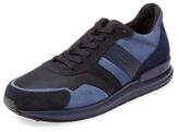 Tod's Suede & Mesh Low Top Sneaker